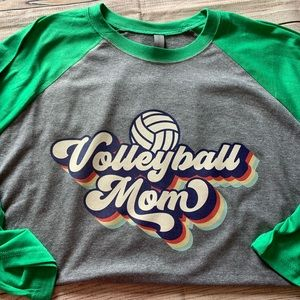 Volleyball Mom Raglan Tee